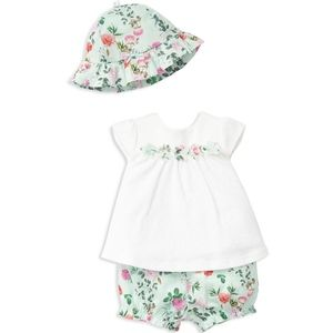 Little Me Baby Girls' Flower Hat, Top & Bloomers